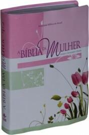 A Bíblia da Mulher -capa em Couro Bonded Impressa