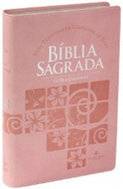 Bíblia Sagrada Ntlh - Letra Gigante -capa Couro Sintético Rosa Claro