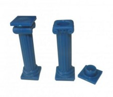 Coluna Acrilica Azul - (cento)